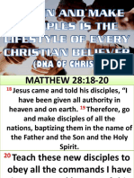 To Win and Make Disciple is the Lifestyle of Every Christian Believer Dna of Christ Ptr. Freddie Rubang 042016 Edited