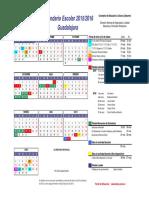 Calendario 2015-16 Guadalajara