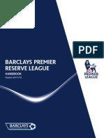 Barclays Premier Reserve League Handbook 2011 12