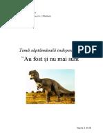 proiect tematic dinozauri