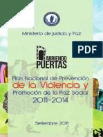 Plan Nacional de Prevencion de La Violencia