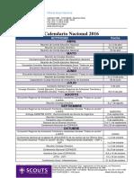Calendario Nacional 2016