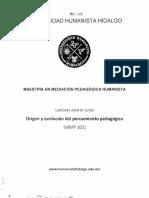 3MMPH_ORIGEN Y EVOLUCION DEL PENSAMIENTO PEDAGÓGICO_PRIMER SEMESTRE