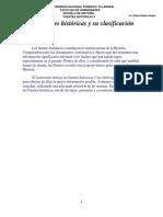 Fuentes Históricas Clasificación