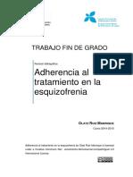 TFG Adherencia Al Tratamiento en La Esquizofrenia