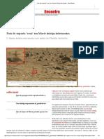 Foto de Suposta 'Cruz' Em Marte Intriga Internautas - Atualidades