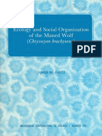 Ecology and Social Organization of the Maned Wolf (Chrysocyon Brachyurus)