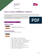 Prévision Trafic SNCF - 7 juin