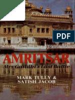 Amritsar Mrs Gandhi's Last Battle by Mark Tully