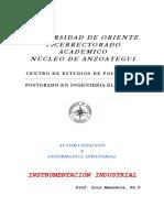 Instrumentación Industrial _Universidad de Oriente