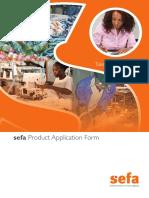 Sefa Product Application Form - Fillable PDF_Online