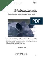 Estrategia Nacional de Conservacion Del Tapir