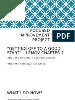 focused inprovement plan