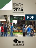 Balanço Social UPF 2014
