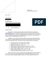 Redacted Letter to Elizabeth Finberg Re the Pirate Bay Dated 6-2-16 Final