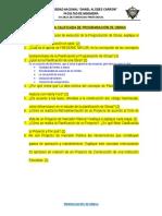 Examen de Programación de Obras 2014-I