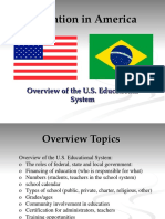 Overview of American Education for Embassy Presentation