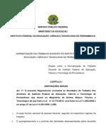 Normatização Do Trabalho Docente 2015 (1)