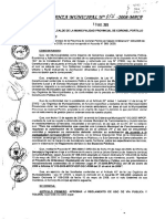 Ordenanza Municipal 014-2008