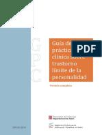 GPC 482 Trastorno Limite Personalidad