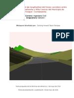 webquest  eje longitudinal de un tramo carretero
