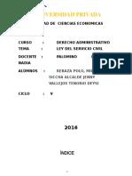 ley del servicio civil monografia