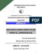 Módulo de Metodologías Didácticas