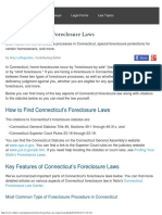 Connecticut Home Foreclosure Laws - AllLawcom