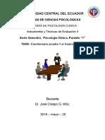 Cuestionario Instrumentos y Tecnicas de Evaluacion 2 6to Clinica 1