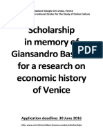 Giansandro Bassetti Scholarship Announcement