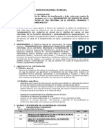 Especificaciones Técnicas Trifasico Caja de Ascensor