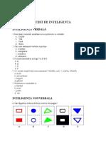 Test de Inteligenta 1