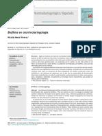 Biofilms Otorrinolaringolia Art de Revision 2014