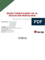 Bases Curriculares de La Educación Parvularia Lenguaje