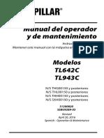Manual de Operaciones y Mantenimiento telehander TL642 CAT