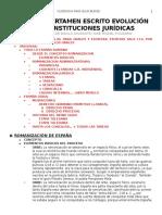 SEGUNDO CERTAMEN ESCRITO EVOLUCIÓN DE LAS INSTITUCIONES JURÍDICAS