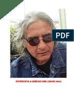 Entrevista a Jiménez Ure (Junio 2016) Por Miguel Szinetár