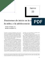 Transtotranstornos en la infancia, niñes o la adolecencia rnos en La Infancia, Niñes o La Adolecencia