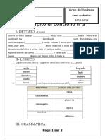 Compito di controllo n° 3 (15-16)
