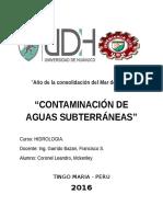 Contaminacion de Subsuelo