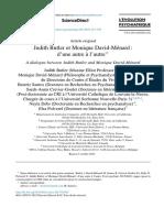 Judith Butler et Monique David-Ménard, D'une autre à l'autre