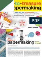Trash-to-Treasure Papermaking Brochure
