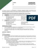06 Rainwater Harvesting Checklist Spec. No 6 - FINAL