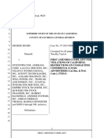First Amended Complaint Against StockTips, TGRO, COLV, Harold Gewerter, Adrian Thomas, Robert Bandfield, Empire Stock Transfer, Quicksilver Stock Transfer and AWeber