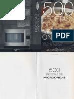500 recetas de cocina en microondas