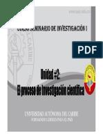 Unidad 2 El Proceso de Investigacion Cientifica