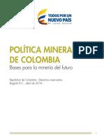 Politica Minera de Colombia