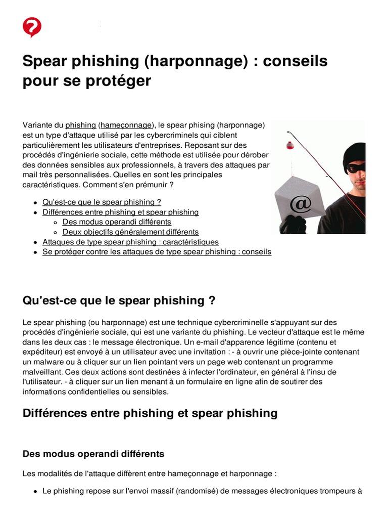 Spear Phishing Harponnage Conseils Pour Se Proteger 35628 Ngh84v