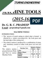 Machine Tools - 2015-16