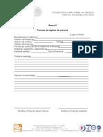 Formato de Registro de Asesoría-Anexo V